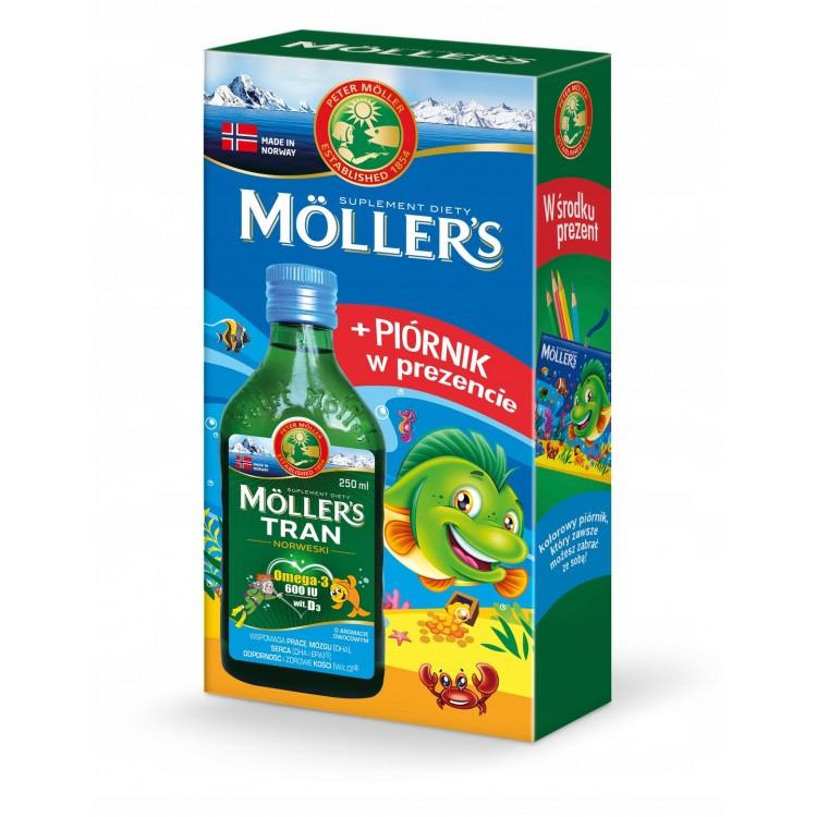 Mollers Tran - (omega -3 600 IU with.D3) - 250 ml