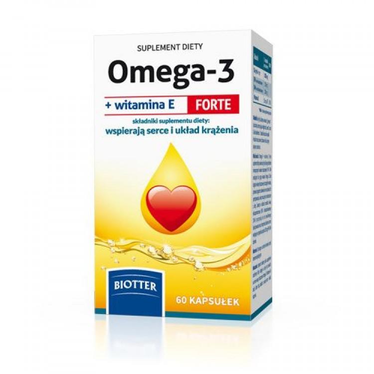 OMEGA-3 FORTE + ВИТАМИН E, 60 КАПСУЛ